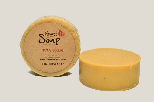 Bay Rum Shave natural soap by Honest Soap Company of Henderson Colorado