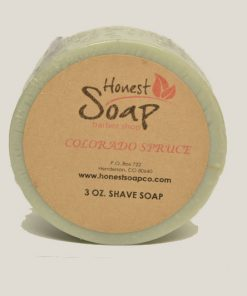 Colorado Spruce Shave Soap by Honest Soap Company, Henderson, Colorado