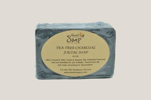 Tea Tree-Charcoal Facial natural soap by Honest Soap Company of Henderson, Colorado