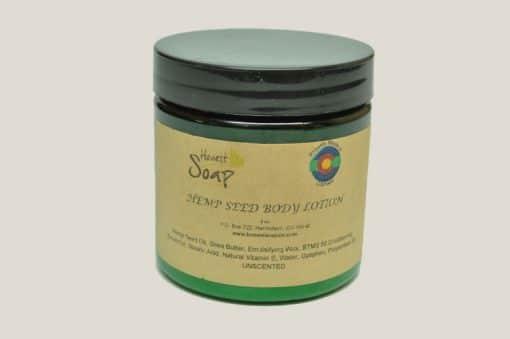 Hemp Seed Body Lotion by Honest Soap Company, Henderson, Colorado