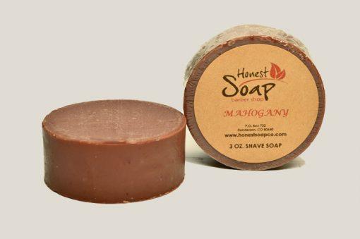 Mahogany Shave natural soap by Honest Soap Company of Henderson Colorado