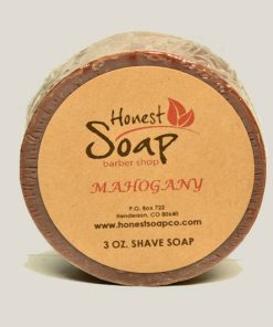 Mahogany Shave natural soap by Honest Soap Company of Henderson Colorado