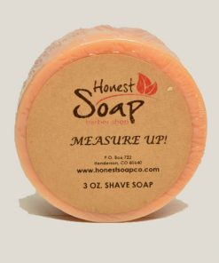 Measuer Up! Shave natural soap by Honest Soap Company of Henderson Colorado
