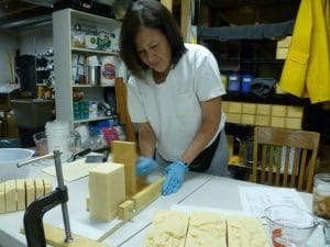 Miriam, the genius behind the luxurious 100% natural soap products.